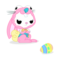 Size: 1200x1200 | Tagged: angel bunny, angel is not amused, animal costume, artist:spookitty, bunny costume, bunny ears, clothes, costume, easter, easter bunny, easter egg, holiday, holiday special, patreon, rabbit, safe, solo, whiskers