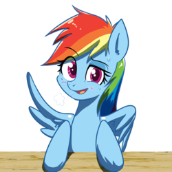 Size: 2800x2800 | Tagged: artist:yinglongfujun, female, mare, pegasus, pony, rainbow dash, safe, simple background, solo, sweat, transparent background