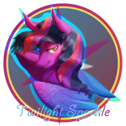 Size: 5000x5000 | Tagged: absurd res, alicorn, artist:angusdra, female, mare, pony, safe, smiling, solo, twilight sparkle, twilight sparkle (alicorn)