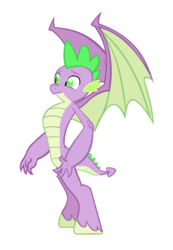 Size: 920x1332 | Tagged: dracony, dragon, edit, editor:proto29, fangs, hybrid, male, older, older spike, race swap, safe, simple background, solo, species swap, spike, transformation, white background