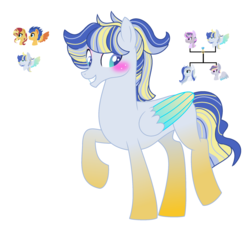 Size: 2377x2217 | Tagged: artist:adoptionona, female, flashimmer, flash sentry, gay, male, oc, oc:crystal sun, oc:paradox, offspring, offspring's offspring, parent:flash sentry, parents:flashimmer, parents:twiburst, parent:sunburst, parent:sunset shimmer, parent:twilight sparkle, pony, safe, shipping, straight, sunset shimmer