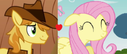 Size: 664x283 | Tagged: braeburn, braeshy, edit, female, fluttershy, male, safe, shipping, shipping domino, straight