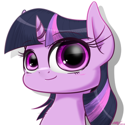Size: 2000x2000 | Tagged: artist:phoenixrk49, blushing, bust, chest fluff, cute, pony, portrait, safe, simple background, solo, twiabetes, twilight sparkle, white background