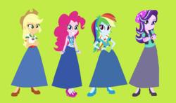 Size: 1174x688   Tagged: safe, artist:starman1999, applejack, pinkie pie, rainbow dash, starlight glimmer, equestria girls