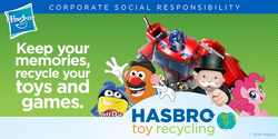 Size: 1024x512 | Tagged: earth day, hasbro, mr. potato head, optimus prime, pinkie pie, safe, uncle pennybags