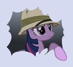 Size: 649x592 | Tagged: artist needed, hat, pony, safe, solo, twilight sparkle