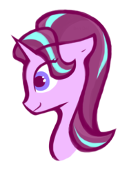 Size: 1676x2242 | Tagged: safe, artist:ben-del, starlight glimmer, pony, unicorn, bust, female, mare, portrait, simple background, solo, transparent background