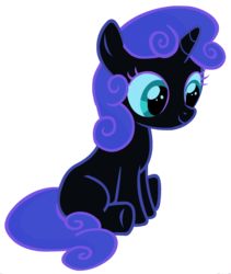Size: 1500x1776 | Tagged: edit, female, filly, foal, fusion, nightmare moon, palette swap, pony, ponyar fusion, recolor, safe, simple background, sitting, solo, sweetie belle, transparent background, unicorn, vector, vector edit