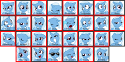 Size: 3600x1800 | Tagged: safe, artist:inkwell, trixie, pony, emotion meme, emotions, facial expressions