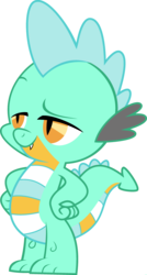 Size: 1920x3582 | Tagged: dragon, edit, fusion, hands on hip, lyra heartstrings, male, palette swap, ponyar fusion, raised eyebrow, recolor, safe, simple background, solo, spike, transparent background, vector, vector edit