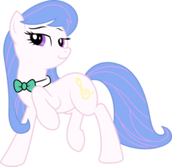 Size: 1920x1865 | Tagged: bowtie, earth pony, edit, female, fusion, mare, octavia melody, palette swap, pony, ponyar fusion, princess celestia, raised hoof, recolor, safe, simple background, solo, transparent background, vector, vector edit