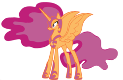 Size: 1920x1246 | Tagged: safe, edit, vector edit, nightmare moon, scootaloo, alicorn, pony, ponyar fusion, alicornified, ethereal mane, female, fusion, helmet, hoof shoes, mare, nightmare scootaloo, nightmarified, palette swap, peytral, race swap, recolor, scootacorn, simple background, solo, transparent background, vector