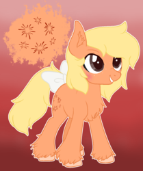 Size: 1024x1225 | Tagged: artist:dreamilil, bow, earth pony, female, g1, g1 to g4, generation leap, mare, pony, rayito, safe, solo, tail bow