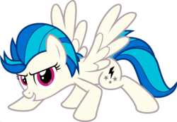 Size: 1920x1328 | Tagged: crouching, dj pon-3, edit, female, fusion, lightning dust, mare, palette swap, pegasus, pony, ponyar fusion, recolor, safe, simple background, solo, spread wings, transparent background, vector, vector edit, vinyl scratch, wings
