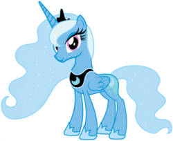 Size: 1920x1566 | Tagged: alicorn, alicornified, edit, ethereal mane, female, fusion, hoof shoes, mare, palette swap, peytral, pony, ponyar fusion, princess luna, race swap, recolor, safe, simple background, solo, transparent background, trixie, trixiecorn, vector, vector edit