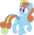 Size: 1920x1940 | Tagged: bon bon, earth pony, edit, female, fusion, mare, palette swap, pony, ponyar fusion, rainbow dash, raised hoof, recolor, safe, simple background, solo, sweetie drops, transparent background, vector, vector edit