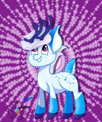 Size: 1020x1212 | Tagged: artist:azurasquill, community related, deer pony, fullbody, male, original species, safe, stallion