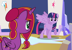 Size: 8248x5744 | Tagged: safe, artist:diamond-chiva, twilight sparkle, oc, oc:diamond-chi, alicorn, pony, series:daring do and the divine crown of the end, female, mare, twilight sparkle (alicorn)