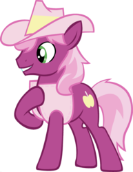 Size: 1920x2482 | Tagged: braeburn, cheerilee, cowboy hat, earth pony, edit, fusion, hat, hoof on chest, male, palette swap, pony, ponyar fusion, recolor, safe, simple background, solo, stallion, transparent background, vector, vector edit