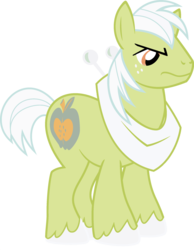 Size: 1920x2468 | Tagged: big macintosh, earth pony, edit, fusion, granny smith, male, palette swap, pony, ponyar fusion, recolor, safe, simple background, solo, stallion, transparent background, vector, vector edit