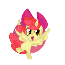 Size: 894x894 | Tagged: adorabloom, alicorn, alicornified, apple bloom, artist:andromedasparkz, bloomicorn, cute, pony, race swap, safe