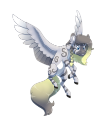 Size: 2800x3200 | Tagged: artist:jackiebloom, braid, female, hybrid, interspecies offspring, magical lesbian spawn, oc, oc:mist, oc only, offspring, parent:daring do, parents:daringcora, parent:zecora, safe, simple background, solo, transparent background, zebra, zebrasus, zony