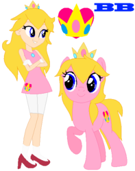 Size: 428x543 | Tagged: artist:ayang888, artist:selenaede, barely eqg related, barely pony related, base, base used, clothes, crossover, crown, earth pony, equestria girls, equestria girls-ified, equestria girls style, gloves, high heels, human, jewelry, nintendo, ponified, pony, princess peach, regalia, safe, shoes, super mario bros., super smash bros.