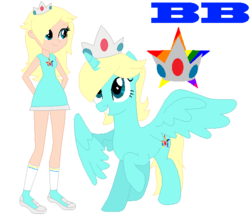 Size: 590x516 | Tagged: alicorn, artist:ayang888, artist:selenaede, barely eqg related, barely pony related, base, base used, clothes, crossover, crown, equestria girls, equestria girls-ified, equestria girls style, human, jewelry, nintendo, ponified, pony, regalia, rosalina, safe, shoes, super mario bros., super smash bros.