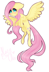 Size: 755x1100 | Tagged: safe, artist:maryus3908, fluttershy, pegasus, pony, blushing, female, floppy ears, looking at you, mare, simple background, solo, spread wings, transparent background, wings