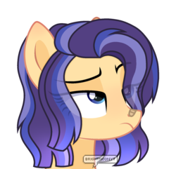 Size: 1280x1233 | Tagged: artist:brightmoonyt, bust, female, mare, oc, oc:lightning flash, offspring, parent:flash sentry, parents:flashlight, parent:twilight sparkle, pony, portrait, safe, simple background, solo, transparent background