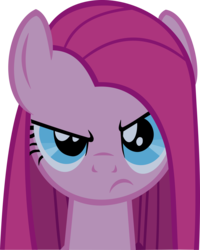 Size: 4000x5012 | Tagged: angry, artist:triox404, bust, earth pony, female, frown, looking at you, mare, party of one, pinkamena diane pie, pinkie pie, pony, safe, simple background, solo, straight mane, transparent background, vector