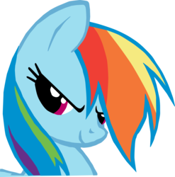 Size: 4002x4057 | Tagged: artist:triox404, bust, determined, female, mare, pony, rainbow dash, safe, simple background, smiling, solo, transparent background, vector