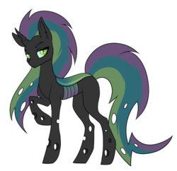Size: 1920x1858 | Tagged: artist:kxttponies, changepony, magical lesbian spawn, oc, offspring, parent:queen chrysalis, parent:rainbow dash, parents:chrysadash, safe, simple background, solo, transparent background
