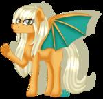 Size: 2055x1968 | Tagged: safe, artist:spokenmind93, oc, oc:misty tailwind, bat pony, dragonite, pony, bat pony oc, pokémon, ponymon, signature, simple background, transparent background