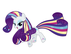 Size: 2600x2000 | Tagged: safe, artist:ashidaru, rarity, pony, unicorn, twilight's kingdom, female, lidded eyes, looking at you, mare, open mouth, rainbow power, simple background, smiling, solo, transparent background, vector