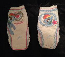 Size: 683x600 | Tagged: safe, rainbow dash, pony, diaper, irl, photo, pullup (diaper), walgreens