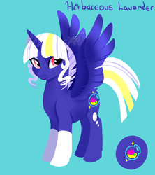 Size: 800x900 | Tagged: safe, artist:angexci, oc, oc only, oc:herbaceous lavander, alicorn, pony, alicorn oc, simple background, solo, wings