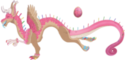 Size: 1438x691 | Tagged: safe, artist:bijutsuyoukai, oc, oc only, draconequus, food pony, original species, colored claws, donut, draconequified, draconequus oc, food, food draconequus, paw pads, rainbow sprinkles, simple background, solo, species swap, sprinkles, transparent background