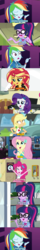 Size: 1275x7910 | Tagged: safe, artist:thejboy88, edited screencap, screencap, applejack, fluttershy, pinkie pie, rainbow dash, rarity, sci-twi, sunset shimmer, twilight sparkle, constructive criticism, driving miss shimmer, equestria girls, equestria girls series, friendship games, overpowered (equestria girls), star crossed, stressed in show, stressed in show: pinkie pie, text support, choose your own adventure, comic, constructive criticism: rainbow dash, driving miss shimmer: applejack, female, geode of fauna, geode of shielding, geode of sugar bombs, geode of super speed, geode of super strength, geode of telekinesis, humane five, humane seven, humane six, magical geodes, screencap comic