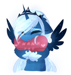 Size: 1593x1668 | Tagged: alicorn, artist:magnaluna, cute, daaaaaaaaaaaw, eyes closed, female, heart, hnnng, horn, lunabetes, mare, pony, princess luna, safe, simple background, solo, thank you, tongue out, transparent background, weapons-grade cute