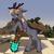 Size: 2000x2000 | Tagged: safe, artist:kotya, oc, deer, pony, reindeer, beard, colored hooves, facial hair, male, minecraft, ponified, shovel, streamer, sweat, zimtok5