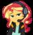 Size: 3984x4221   Tagged: safe, artist:razoredge2312, sunset shimmer, equestria girls, game stream, spoiler:eqg series (season 2), absurd resolution, cute, female, gamer sunset, headphones, headset, lidded eyes, shimmerbetes, simple background, smiling, solo, sunset gamer, transparent background, vector