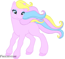 Size: 651x594 | Tagged: artist:freezestime, base used, custom, eyeshadow, g2, makeup, oc, pony, safe, simple background, solo, toy, transparent background