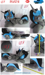 Size: 1500x2500 | Tagged: alicorn, artist:blackwater627, blind bag, dock, female, folded wings, horn, irl, mare, measuring tape, oc, oc:ebony, oc only, photo, plushie, pony, princess celestia, prone, safe, size comparison, solo, toy, twilight sparkle, twilight sparkle (alicorn), wings