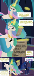 Size: 1920x4320 | Tagged: safe, artist:red4567, princess celestia, princess luna, pony, the point of no return, spoiler:s09e05, 3d, celestia-ing, comic, freaking out, here we go again, letter, majestic as fuck, source filmmaker