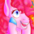 Size: 700x700 | Tagged: safe, artist:guidomista, artist:miiistaaa, artist:nijimillions, derpibooru exclusive, pinkie pie, earth pony, pony, bust, excited, grin, happy, hooves, hooves on face, open mouth, portrait, smiling, solo, wide eyes