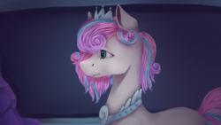 Size: 1920x1080 | Tagged: safe, artist:lavand3r-arts, princess flurry heart, pony, female, jewelry, mare, older, older flurry heart, regalia, remembrance (audio drama), solo, wingless