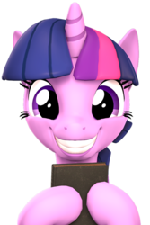 Size: 2729x4088   Tagged: safe, artist:flushthebatsanta, twilight sparkle, alicorn, pony, the point of no return, 3d, adorkable, book, cute, dork, female, grin, holding, looking at you, mare, simple background, smiling, source filmmaker, transparent background, twiabetes, twilight sparkle (alicorn)