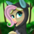 Size: 2048x2048 | Tagged: safe, artist:sweetkllrvane, fluttershy, pegasus, pony, :p, bunny ears, bust, clothes, costume, cute, dangerous mission outfit, female, forest, forest background, goggles, hoodie, looking at you, looking sideways, mare, outdoors, portrait, shyabetes, signature, solo, three quarter view, tongue out