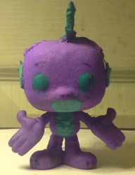Size: 1305x1702 | Tagged: artist:grapefruitface1, arts and crafts, custom, dragon, funko pop!, irl, photo, safe, solo, spike, toy